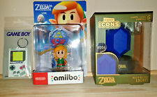 Links Awakening amiibo + Zelda Blue Rupee Lamp + GAMEBOY Keyring