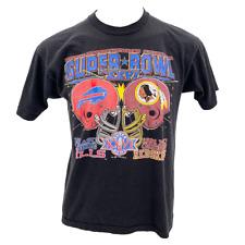 VTG 1992 NFL Super Bowl XXVI Buffalo Bulls v. Washington Redskins Mens XL Tshirt