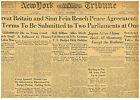 BRITAIN SINN FEIN REACH PEACE TREATY DECEMBER 6 1921 NEWSPAPER 12-1921 B7