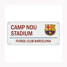 BARCELONA NOU CAMP STREET SIGN WHITE EASY TO HANG PRE DRILLED NEW FREE P+P
