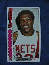 1976/77 Topps Lg John Williamson N.Y. Nets card #113 basketball NBA