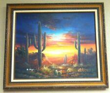 "BERNARD DUGGAN - Desert Painting - Original & Signed 24""L x 20"" H"