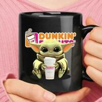 Baby Yoda Hugs Dunkin Donuts Cup Mug, Star war Mug, Baby Yoda Coffee Cup