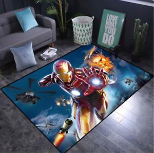 Iron Man at War -  Anti-Slip Soft Mat 80 x 160cm  Games / Bedroom *** UK SELLER