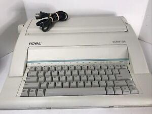 Royal Scriptor AX-150 Electronic Typewriter preowen Tested Working