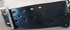 Triple K Black All Real Leather Duty Beltbuckle 2 14x45 Size 34 2 Prong