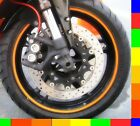 "Motorcycle Rim Tape Reflective Wheel Stickers Decals Vinyl Set Kit 17 inch 17"""