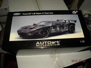 AUTO ART 1/18 FORD GT LM SPEC II TEST CAR CARBON BLACK #4 FACTORY SEALED