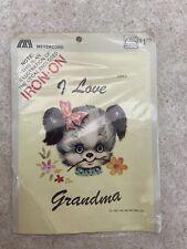 Vintage Meyercord Decals - 1299-C, I Love Grandma, Unopened