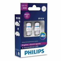 Philips X-tremeVision 360 LED W5W T10 501 8000K Cool Blue Bulbs Twin Pack