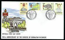 1992 Gibraltar FDC 150th Anniversary of the Anglican Diocese of Gibraltar