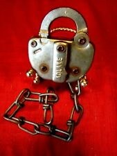 Vintage - Stockton Terminal & Eastern Railroad - Switch Lock w/Chain - Must L@@K