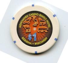 1.00 Casino Chip from the Menominee Casino Keshena Wisconsin