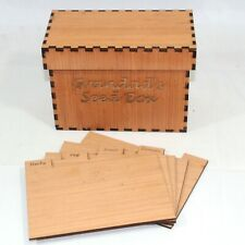 More details for seed packet storage box garden wooden gardeners personalised 21cm x 15cm x 11cm