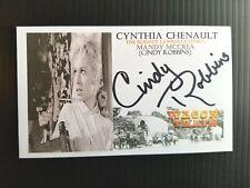 """""""WAGON TRAIN"""" CYNTHIA CHENAULT """"MANDY McCREA"""" AUTOGRAPHED 3X5 INDEX CARD"""