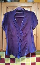 Gorgeous ladies BHS purple frill blouse size 16