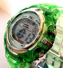 Ladies Digital Sport Watch Montres Carlo MC85104 Gree Silicone Band, Water Proof