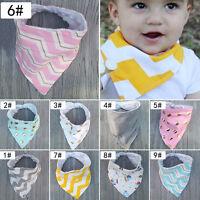 Baby Boys Girls Bandana Bibs Infant Triangle Head Scarf Saliva Towel Dribble New