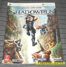 Xbox 360 Shadowrun Official Strategy Guide Book New Sealed