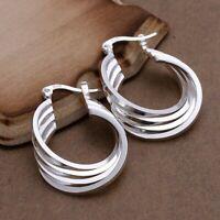 Ohrringe 925 Sterling Silber Versilbert Creolen Modeschmuck