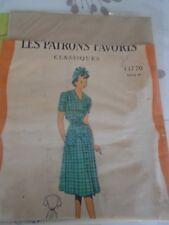 ANCIEN PATRON Favoris & Parisiens -Vintage French  ROBE TABLIER   T44