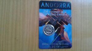 2 EUROS -ANDORRA 2018- CONSTITUCIÓN DE ANDORRA - COINCARD