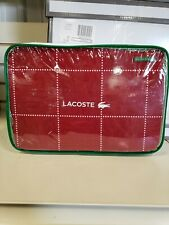 Lacoste Lester Red Duvet Set, Twin Red Chili Pepper