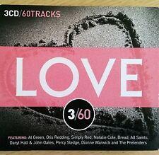 3CD NEW - LOVE 3/60 - Pop Music 3x CD Album  Otis Al Green Bread Cars Corrs Cher