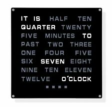 Tech Tools LED Word Clock - Displays Time as Text - Powered by AC 12