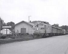 Milwaukee Rd. ABB F-unit freight consist Bellevue IA. engine 94A  8X10 b&w photo