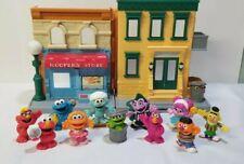 2010 Hasbro Sesame Street 123 Neighborhood Playset Mr. Hooper's Store 11 Figures