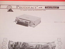 1976 AUDIOVOX AM-FM-MPX RADIO SERVICE MANUAL C-578 ID-300 CHEVROLET FORD DODGE