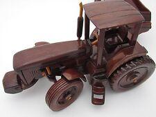 Custom Wooden Toy John Deere Mahogany Tractor Manure Spreader Frontend Steers