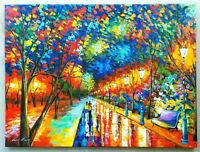 "LEONID AFREMOV ""When Dreams Come True"" Original Oil on Canvas Painting 36x45"""