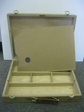 Artist Paint Sketch Box  with wooden palette  (Brand New)
