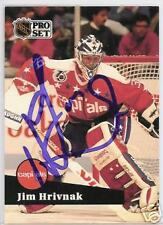 f4096b59556 JIM HRIVNAK WASHINGTON CAPITALS 1992 PRO SET AUTOGRAPHED HOCKEY CARD JSA