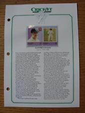 1939-1969 leader Cricket pagina COMMEMORATIVA: Evans, Godfrey Kent [] (nukulaelae -