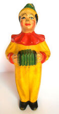 1930s Ussr Early Russian Soviet Sound Rubber Toy Clown w/Harmonic Rare