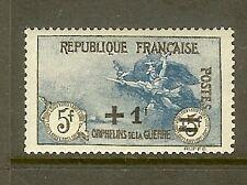 "FRANCE N°169a ""ORPHELINS LA MARSEILLAISE +1F SUR 5F+5F NOIR ET BLEU"" NEUF xx TTB"