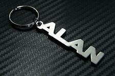 ALAN Personalised Name Keyring Keychain Key Fob Bespoke Stainless Steel Gift