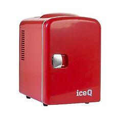 Iceq 4 Litre Small Mini Fridge Cooler Red