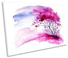 Árbol Rosa Impresión Floral Acuarela Enmarcada SINGLE LONA pared arte