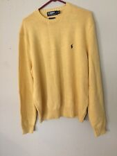Polo Ralph Lauren Men Sweater Yellow Soft Pima Cotton V Neck Sz. XXL Classic