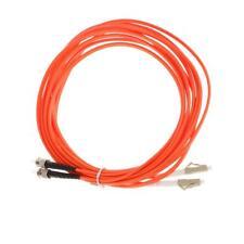 5 Meters Multi-Mode Dual-Core Fiber Optic Jumper Cord ST to LC Orange 16ft