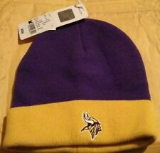 Genuine Official NFL Beanie Minnesota Vikings Cuffed Winter Hat BRAND NEW w/ Tag