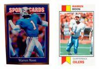 (2) Warren Moon Odd-Ball Football Card Lot Houston Oilers