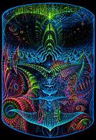 Fluoro Backdrop Origin 1х1.5M Visionary UV blacklight psychedelic tapestry art