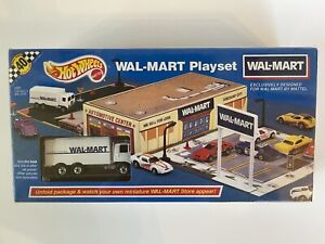 Rare Vintage 1991 Hot Wheels WAL-MART Playset Highway Hauler Diecast Truck NIB