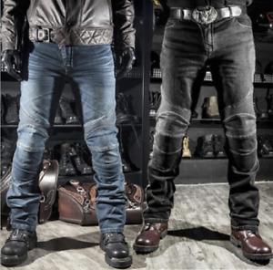 Herren KOMINE Motorradhose Motorrad Jeans Hose Schutz Rennhose Draussen Hosen