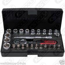 """KS Tools Mini Ratchet Box 1/4 """" Socket Set, 26 pcs 917.0626"""